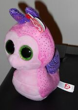 "Ty Beanie Boos - SCOOTER the 6"" Pink Snail ~ 2016 NEW ~ MWMT'S ~ IN STOCK"