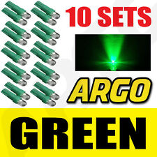 10 X SETS T5 286 LED ULTRA GREEN DASHBOARD LIGHT BULBS XENON 12V LAMP DIALS CAR
