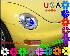 BLUE Eyeball Eyes for car headlight set USE with eyelashes or lips to make face