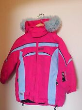 ITALIAN DESIGNER GIRLS SKI JACKET, PINK with blue - size 2Y - GREAT CONDITION!