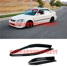 For 96-00 Honda Civic 4Dr Sedan Smoke Tinted Side Window Visors Rain Guard EK SI