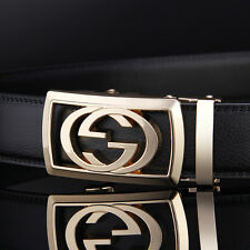 110cm Black and new brand Designers Mens Leather Belts Automatic Belt Buckle