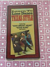 Learn to Line Dance Texas Style  VHS   USA Seller