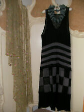 Stunning Hebbeding~Quirky Design Lagenlook Fine Knit Mohair Maxi Dress~BNWT £260