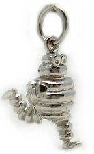 Sterling 925 Silver Bibendum Michelin Man Charm with Jump Ring & Free Split Ring