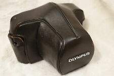 OLYMPUS Dark Brown Leather Ever-Ready Case 1,4N for OM-1, OM-2, OM-3, OM-4.