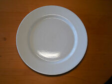 "Dansk Portugal CENTRA WHITE Set of 3 Dinner Plates 10 7/8"" Raised Rings Rim"