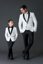 White Mens Wedding Suits Groom Tuxedos Groomsman Suits Party Suits Tailcoats