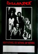 DISCHARGE - 1982 - Tourplakat - Hear Nothing - See Nothing - Tourposter - Ohne