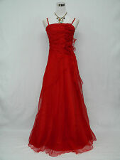 Cherlone Plus Size Red Ballgown Bridesmaid Formal Wedding/Evening Dress 26-28