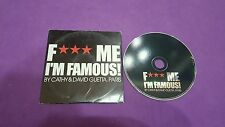 F. . .  Me I'm famous by cathy & David Guetta Paris card sleeve cd usato P 2003