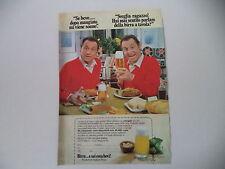 advertising Pubblicità 1980 BIRRA E SAI COSA BEVI - RENZO ARBORE