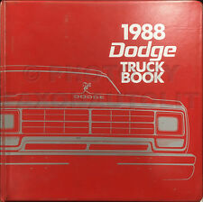 1988 Dodge Truck Data Book Dealer Album Pickup D100 D250 D350 Ram 50 Van Dakota
