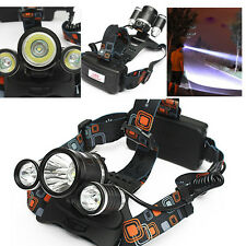 8000LM 3x T6 LED Rechargeable Headlight Lintenra LUZ Frontal Headlamp