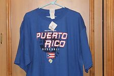 Majestic World Baseball Classic 2009 BLUE Puerto Rico  XL T-Shirt New with tag