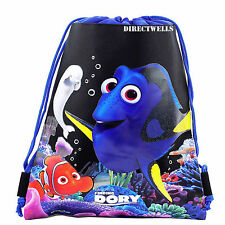 Disney Finding Dory Black Drawstring Bag School Backpack