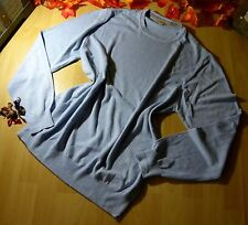 BURBERRY London Herren Strick PULLOVER Luxus hell BLAU Baumwolle Winter Gr XL