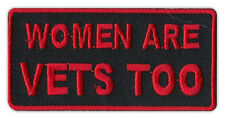 Motorcycle Jacket Patch - Women Are Vets Too - Veterans, Support, Military