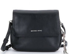 "MICHAEL KORS ISABEL SMALL LEATHER MESSENGER CROSSBODY ""BLACK"" MSRP $238 NWT!"