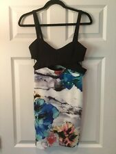 Zara Trafaluc Multi-Color Floral Print Stretch Dress, Size M NWT!