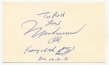 MUHAMMAD ALI  Signed Index Card 1984 Autograph Quote & Sketch  KOA Authenticated