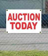 2x3 AUCTION TODAY Red & White Banner Sign NEW Discount Size & Price FREE SHIP