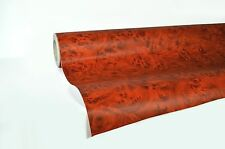 "Professional quality Rose wood grain knotty 5ft x 48"" pre-laminated vinyl wrap"
