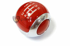 Citroen DS3 Aden Red & Satin Chrome 6 Speed Gear Knob 2403GG Brand New Genuine