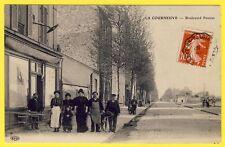 cpa RARE 93 - LA COURNEUVE (Seine St Denis) Bd PASTEUR Restaurant Maison CHARLES