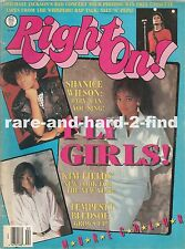 RIGHT ON February 1988 SHANICE Rare Vintage USA Celebrity Magazine