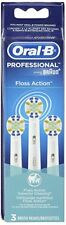 Oral-B Floss Action Professional Braun 3 Pack Tooth Brush Heads