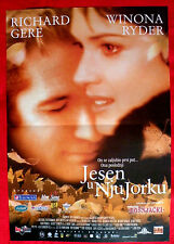 AUTUMN IN NEW YORK 2000 RICHARD GERE WINONA RYDER JOAN CHEN SERBIAN MOVIE POSTER