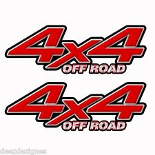 4x4 OFF ROAD Red Truck Bed Decal Sticker Toyota CHEVY DODGE FORD Parts k001OR4