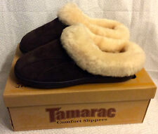 (10m)Woman's Tamarac Comfort Slippers,Root Beer-ship free