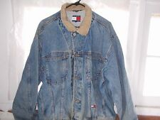 Tommy Hilfiger Men's Vintage Trucker? Blue Jean Jacket Size Large