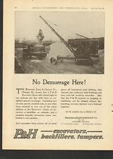 1919 VINTAGE MAGAZINE AD #00145 - P&H - PAWLING AND HARNISCHFEGER CRANE