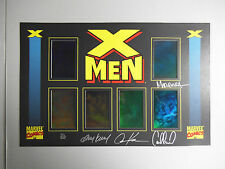 SUPER RARE X-Men Hologram Set 4x signed Kubert Madureira Dynamic Forces 316/325