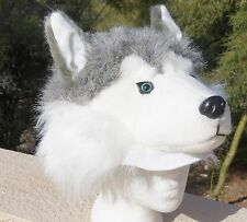 SIBERIAN HUSKY HAT plush ADULT huskies uconn cool Costume mens womens for humans