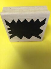 """Abstract Shape Thought Bubble Wood Rubber Stamp 2.25""""x 2"""" NEW RS66"""