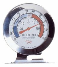 Fridge & Freezer Thermometer Stainless Steel Shatter Proof Case Stand Hang Home