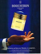 PUBLICITE ADVERTISING 114  1994  BOUCHERON  parfum pour homme