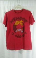 DENNIS THE MENACE 2 SOCIETY Red T-Shirt Sz S