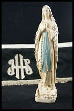 † 19TH BLESSED VIRGIN MARY OUR LADY of LOURDES CHALKWARE by DISPONS FRANCE † WOW