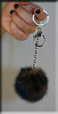 New Mahogany Mink Fur Key Chain - Extra Large Size - Efurs4less