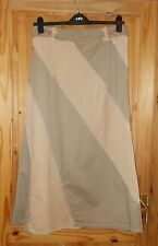PER UNA beige khaki olive green corduroy panel long maxi riding skirt 14R 42 M&S