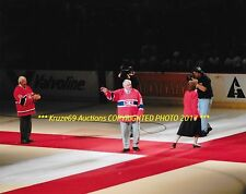 MAURICE RICHARD Closes MTL FORUM Ceremony OVATION 8x10 MONTREAL CANADIENS GREAT