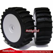 2pcs New RC 1:8 Baja Buggy Wheels & Snow / Sand  Paddle Tires Set for HPI Car