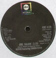 "[BEE GEES] RUFUS Featuring CHAKA KHAN~JIVE TALKIN' / ON TIME~1975 UK 7"" SINGLE"