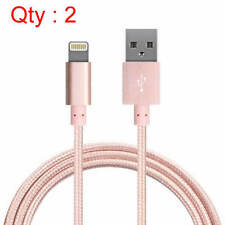 QTY 2 6FT SYNC CABLE CHARGER CORD FOR iPad 4 AIR 1 2 MINI 3 IPHONE 6