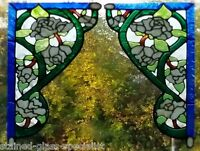 VICTORIAN ROSE STAINED GLASS EFFECT WINDOW CLING DECAL STICKER MOTIF DECORATION